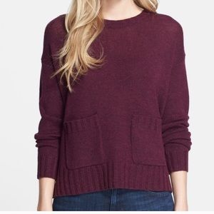Joie Wool & Cashmere Plum Burgundy Sweater